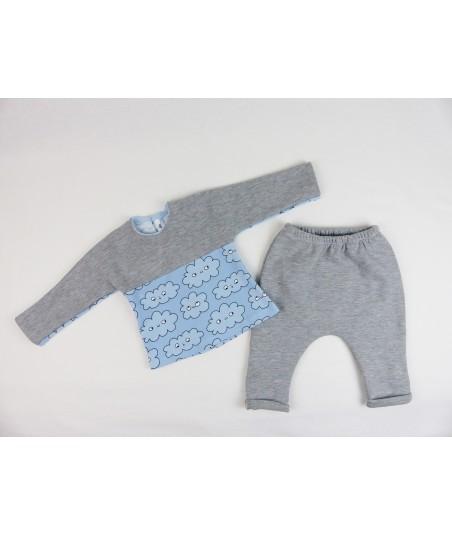 Le sarouel bébé gris, fille et garçon