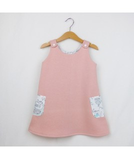 La robe trapèze Birdy rose