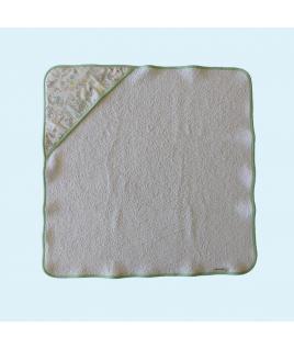 Une cape de bain bien chaude, en tissu bio
