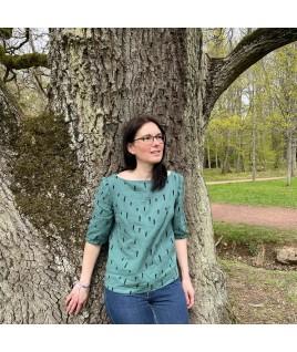 Très nature, cette blouse vous accompagnera dans les balades en forêt