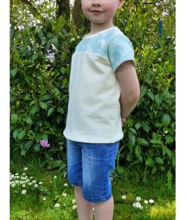 Voilà un T-Shirt en tissu bio, très doux et très sain pour nos enfants